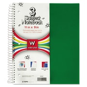 TOPS™ Poly Notebook, Black; Blue; Red, 3-Subjects, 8 x 11, Each (59261)