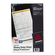Avery® Vinyl Heavyweight Sheet Protector, Clear, 50/Pack (73899)