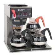 BUNN® Commercially Rated Automatic Brewer, 3-Burners, Stainless Steel/Black (12950.0212)