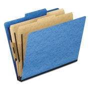Pendaflex® Six-Section PressGuard® Colored Classification Folders, Top Tab, Light Blue, 10/Box (1257LB)