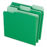 Pendaflex® Colored File Folders, Letter, Green/Light Green, 100/Box (1521/3BGR)