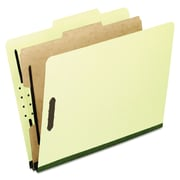 Pendaflex® Four-, Six-, and Eight-Section Pressboard Classification Folders, Top Tab, Light Green, 10/Box (1157G)