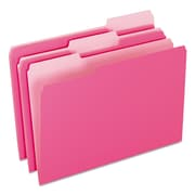 Pendaflex® Colored File Folders, Legal, Pink/Light Pink, 100/Box (1531/3PIN)