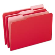 Pendaflex® Colored File Folders, Legal, Red/Light Red, 100/Box (1531/3RED)
