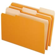 Pendaflex® Colored File Folders, Legal, Orange/Light Orange, 100/Box (1531/3ORA)