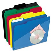 Pendaflex® Hot Pocket Poly File Folders, Letter, Assorted, 25/Box (00515)