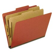 Pendaflex® Four-, Six-, and Eight-Section Pressboard Classification Folders, Top Tab, Red, 10/Box (1257R)