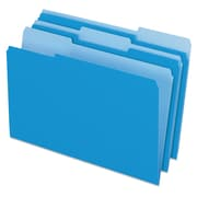 Pendaflex® Colored File Folders, Legal, Blue/Light Blue, 100/Box (1531/3BLU)