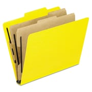 Pendaflex® Six-Section PressGuard® Colored Classification Folders, Top Tab, Yellow, 10/Box (1257Y)