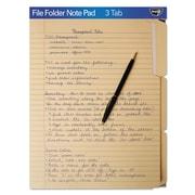find It™ File Folder Note Pad, Letter, Manila, Each (FT07210)