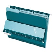 Pendaflex® Interior File Folders, Letter, Teal, 100/Box (4210 1/3 TEA)