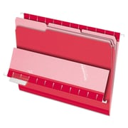 Pendaflex® Interior File Folders, Letter, Red, 100/Box (421013RED)