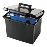 Pendaflex® Portfile® Portable File Boxes, Letter, Black, Each (41742)