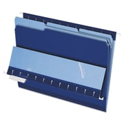 Pendaflex® Interior File Folders, Letter, Navy Blue, 100/Box (421013NAV)