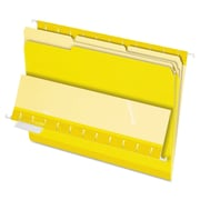 Pendaflex® Interior File Folders, Letter, Yellow, 100/Box (421013YEL)