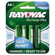 Rayovac® Recharge Plus NiMH Batteries, AA, 4/Pack (PL715-4)