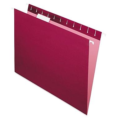 Pendaflex® Essentials™ Colored Hanging Folders, Burgundy, Letter, 25/Box (81613)