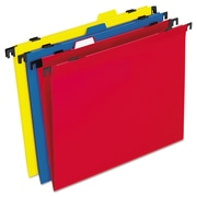 Pendaflex® 2-in-1 Colored Poly Folders with Built-in Tabs, Assorted, Letter, 10/Pack (99917)