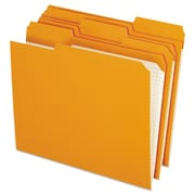 Pendaflex® Double-Ply Reinforced Top Tab Colored File Folders, Letter, Orange, 100/Box (R15213ORA)