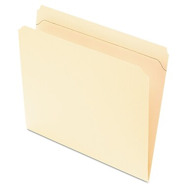 Pendaflex® Reinforced Top File Folders, Letter, Manila, 100/Box (R752)