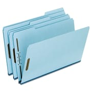 Pendaflex® Heavy-Duty Pressboard Folders with Embossed Fasteners, Top Tab, Blue, 25/Box (FP313)
