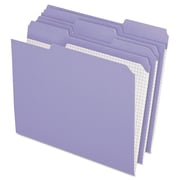 Pendaflex® Double-Ply Reinforced Top Tab Colored File Folders, Letter, Lavender, 100/Box (R15213LAV)