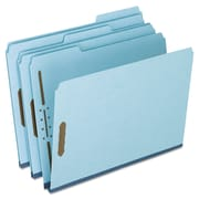 Pendaflex® Heavy-Duty Pressboard Folders with Embossed Fasteners, Top Tab, Blue, 25/Box (FP213)