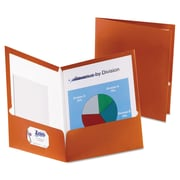 Oxford® Metallic Laminated Twin Pocket Folders, Copper/Copper, 25/Box (5049580)
