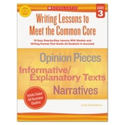 Scholastic Writing Lessons To Meet the Common Core, Reference Books, Reading, Grade 3, Each (539162)