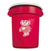 Rubbermaid® Commercial Team Brute® Round Container, 32 gal, Red/White, Each (1853509)
