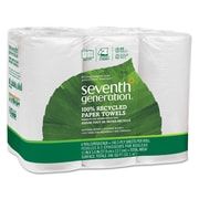 Seventh Generation® 100% Recycled Paper Towel Rolls, 2-Ply, Roll, White, 6/Pack, (SEV 13731)