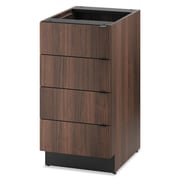 "HON® Modular Hospitality Single Base Cabinet, 4 Drawers, 18"" x 36"", Columbian Walnut (HONHPBC4D18Z)"