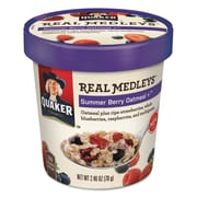 Quaker® Real Medleys™ Oatmeal, Summer Berry Oatmeal+™, Oatmeal, 2.46 oz (030000315521)