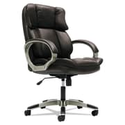 basyx® VL403 Series Mid-Back Managerial Chair, Leather, Padded Loop, Light Brown (BSXVL403SB49)