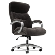 basyx® VL401 Series High-Back Executive Chair, Fabric, Padded Loop, Charcoal Black (BSXVL401VM12)