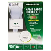 C-Line® Specialty Name Badge Holder Kits, 50/Box (97043)