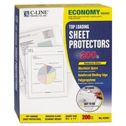 C-Line® Polypropylene Sheet Protector, Clear, 200/Box (62067)