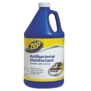 Zep Commercial® Antibacterial Disinfectant, 128 oz Bottle, Lemon (ZUBAC128)