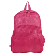 Eastsport® Mesh Backpack, Clear/English Rose, Polyester (113960BJENR)