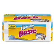 Charmin® Basic Big Roll, 1-Ply, White, 6336/Carton (87148)