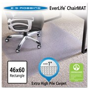 "ES Robbins® EverLife™ Chair Mats for High to Extra-High Pile Carpet, 46"" X 60"", Carpets, Clear (124371)"