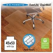 "ES Robbins® EverLife™ Chair Mat for Hard Floors, 45"" X 53"", Hard Floors, Clear (131823)"