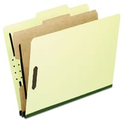 Pendaflex® Four-, Six-, and Eight-Section Pressboard Classification Folders, Top Tab, Light Green, 10/Box (2157G)