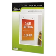 NuDell™ Clear Plastic Sign Holders, Plastic, Each (38017Z)