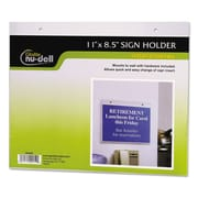 NuDell™ Clear Plastic Sign Holders, Plastic, Each (38008Z)