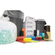Inteplast Group High-Density Interleaved Commercial Can Liners Bags, 0.43 mil, Black, 33 gal, 500/Carton (IBS S334011K)