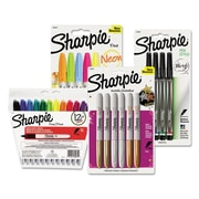 Sharpie® Fine Tip Permanent Marker, Fine, Assorted, 1/Kit (BNDM3P1)