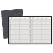 AT-A-GLANCE® Four-Person Group Undated Daily Appointment Book, Black (80-310-05)