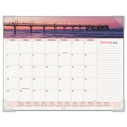 AT-A-GLANCE® Seascape Panoramic Desk Pad, 2016, 22 x 17, Seascapes (89803)