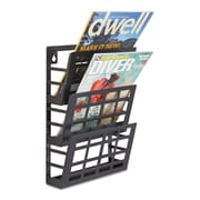"Safco® Grid Magazine Rack, 9 1/2"" x 5 1/2"" x 13 1/2"", Black, Each (4660BL)"